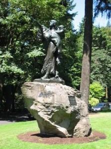 Sacagawea Monument Washington Park Portland