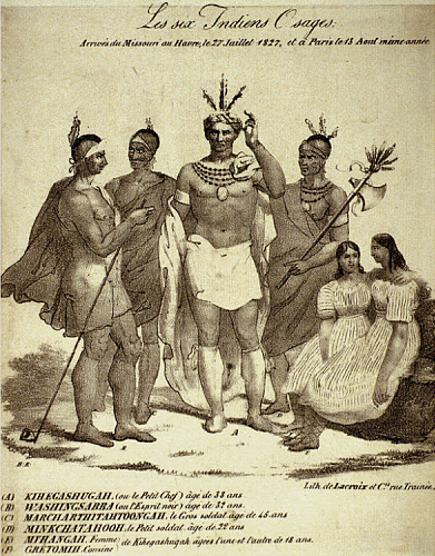 Six Osage Native Americans