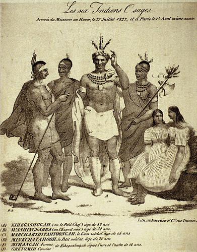 Six Osage Native Americans