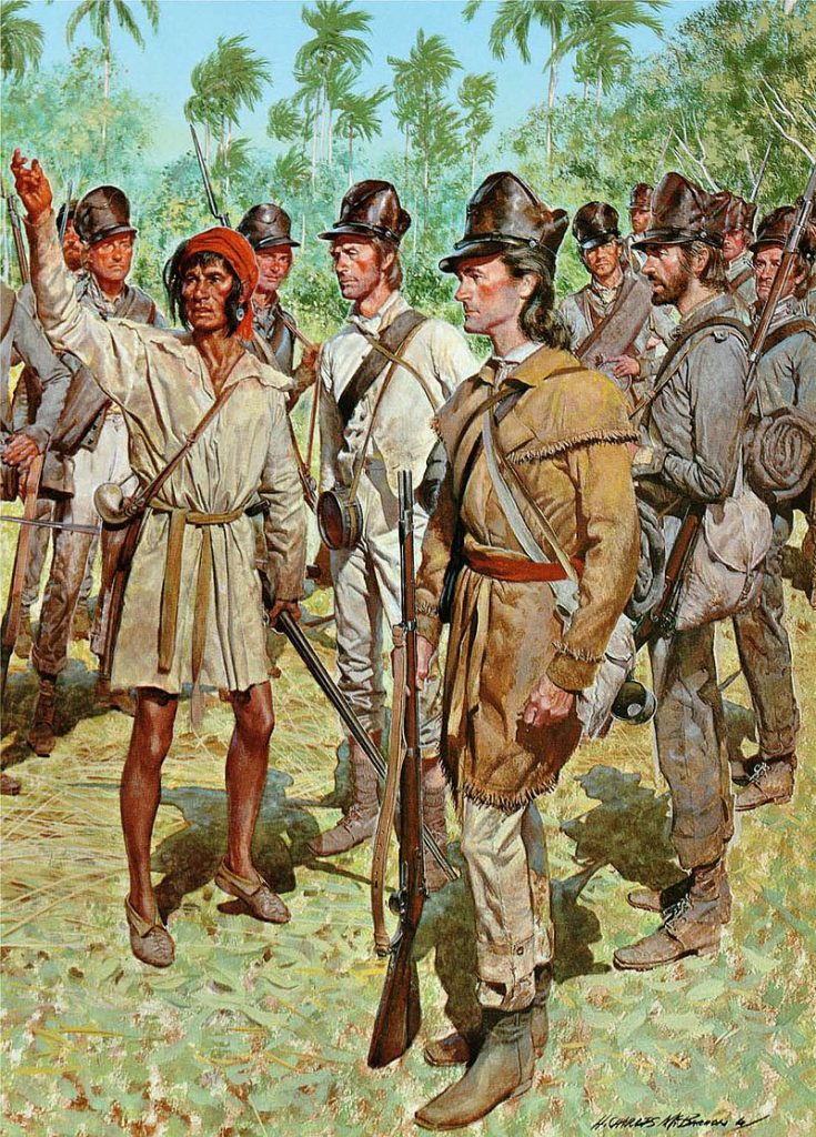 US Army Troops With A Seminole Guide