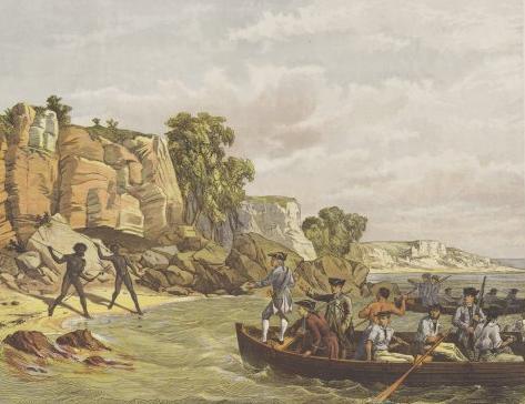Cooks Landing At Botany Bay