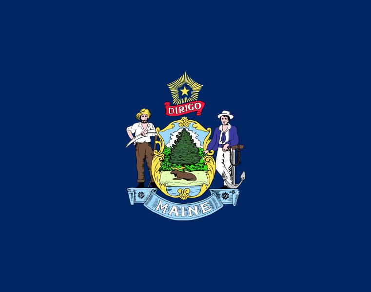 Flag Of Maine United States Of America