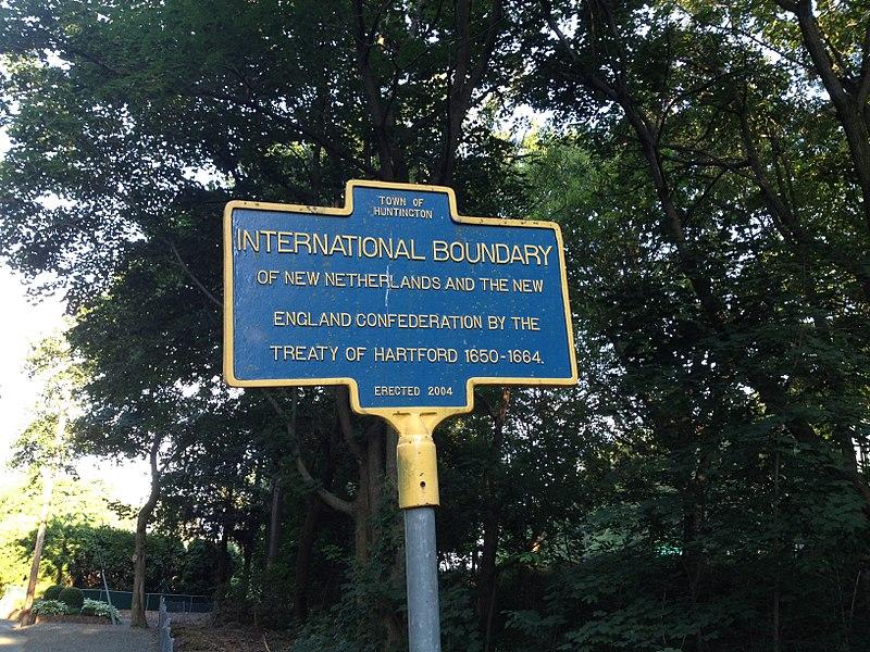 Historical Marker Of The Treaty Of Hartford Boundary