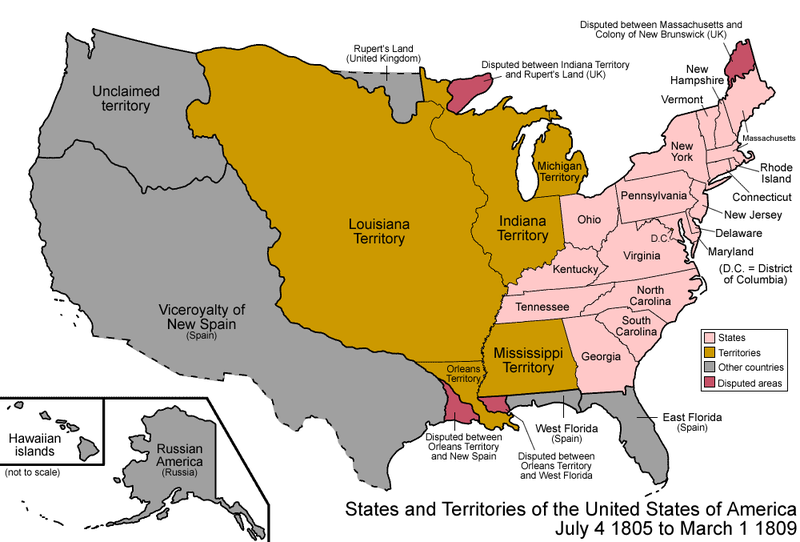 Map Of The States And Territories Of The United States