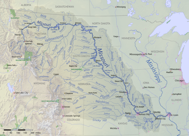 Missouri River Basin Map