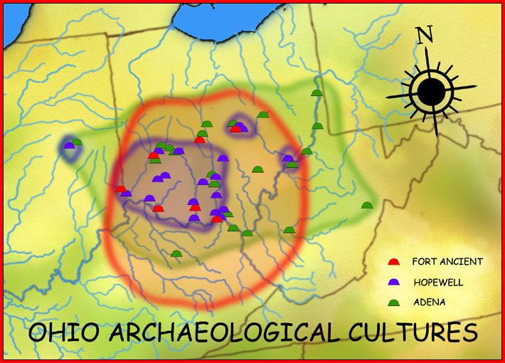 Ohio Arch Cultures Map Hroe