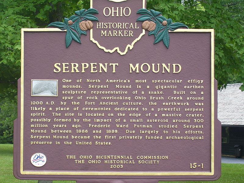 Serpent Mound Plaque