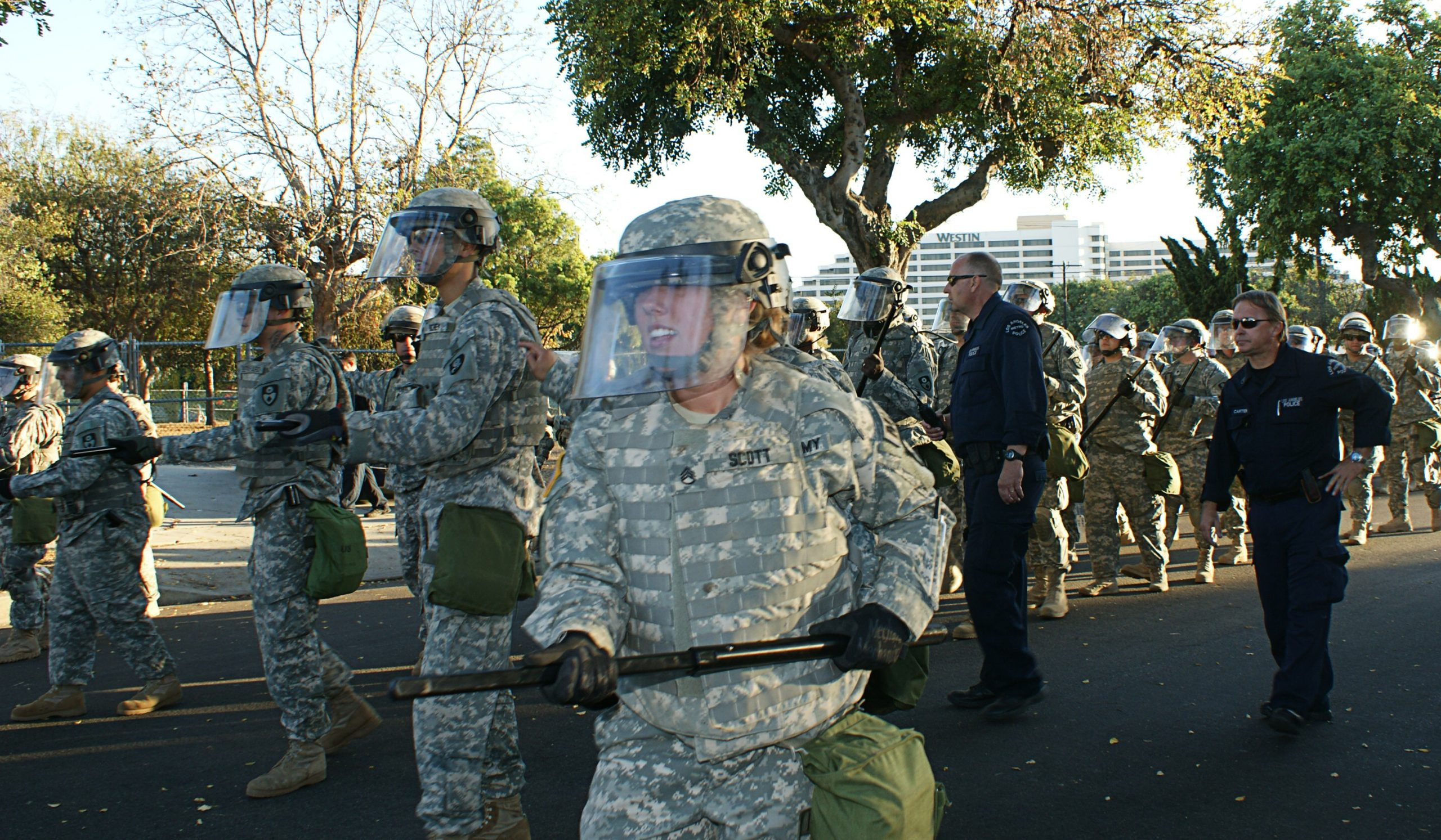 The LAPD National Guard in training