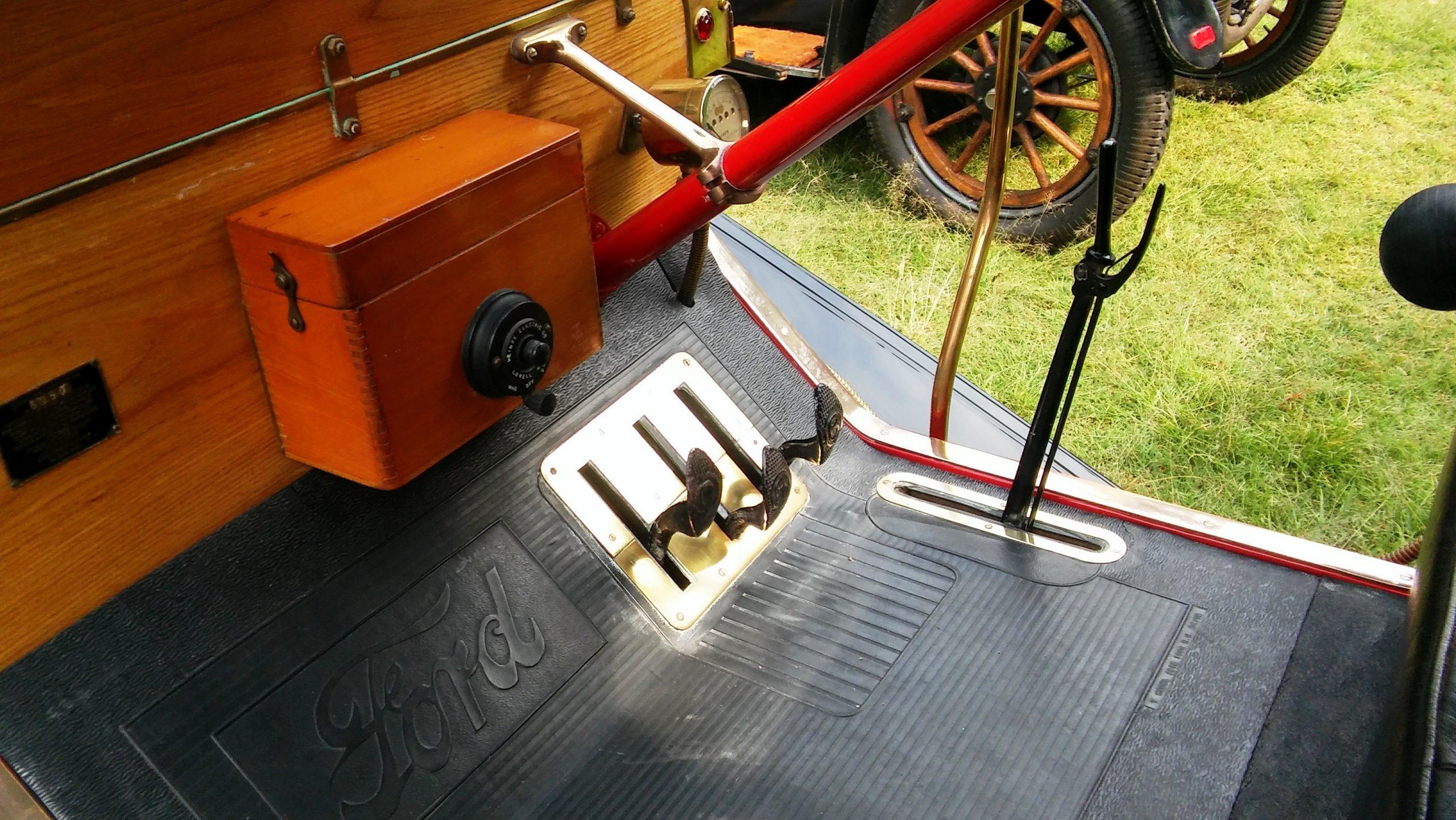 inside model T Ford