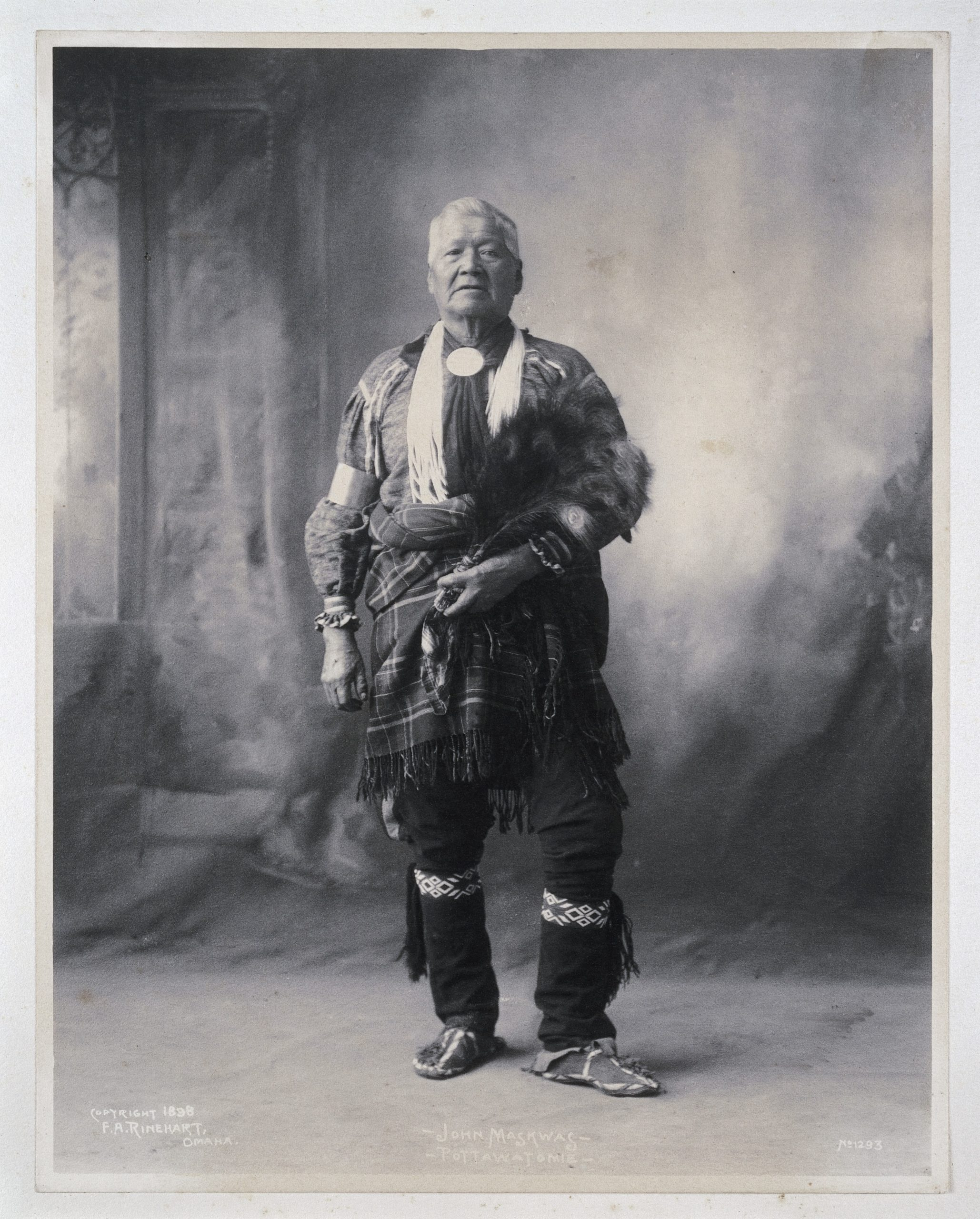 Portait of John Maskwas, a Potawatomi Indian,1898
